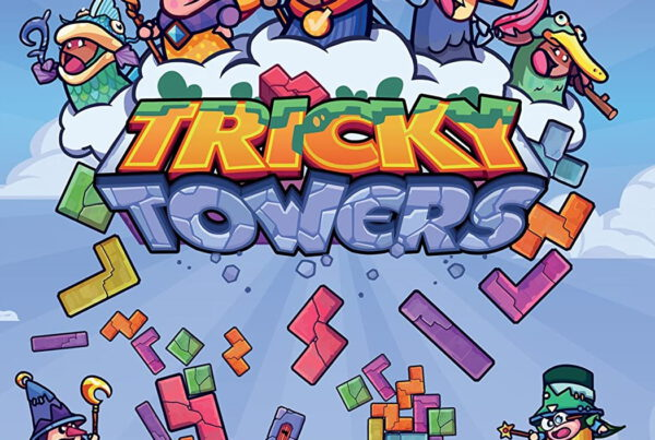 Tricky Towers logo, on the Game Drive Marketing website.